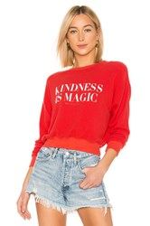 Spiritual Gangster Kindness Malibu Crew Neck Sweatshirt Red