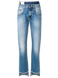 Dondup High Low Jeans Blue