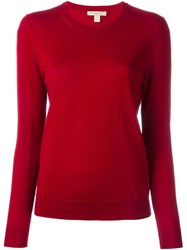 Burberry Brit Elbow Patch Sweater Red