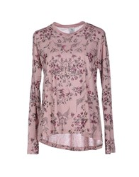 Uniqueness Topwear T Shirts Women Pastel Pink