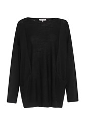 Great Plains Amelia Merino Reverse Knit Jumper Black