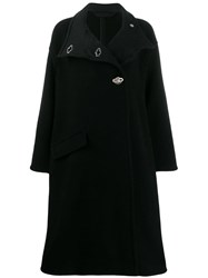 Acne Studios Oversized A Line Wrap Coat Black