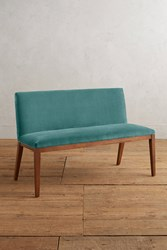 Anthropologie Velvet Emrys Bench Dark Turquoise