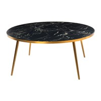 Pols Potten Marble Look Coffee Table Black