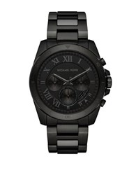Michael Kors Brecken Ion Plated Stainless Steel Bracelet Watch Black