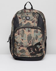 Dc Shoes Locker Backpack In Camo Camo Stone