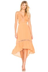 The Jetset Diaries Javasu Midi Dress Orange