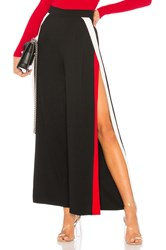 By The Way Rowshanda Side Slit Track Pant Black