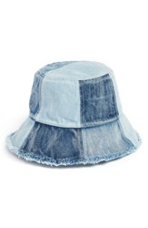 Bcbgmaxazria Bcbg Patched Denim Bucket Hat Blue