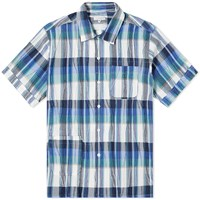 Engineered Garments Plaid Camp Shirt Blue