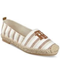 Tommy Hilfiger Folk Espadrille Flats Women's Shoes Taupe Multi