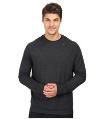 Nike Dri Fit Touch Fleece Crew Black Cool Grey Men's Long Sleeve Pullover