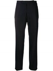 Tom Ford Straight Fit Tailored Trousers Blue