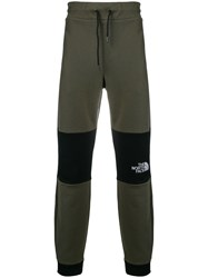 The North Face Colour Block Track Pants Green