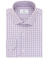 Ryan Seacrest Distinction Men's Slim Fit Non Iron Purple Multi Check Dress Shirt Only At Macy's