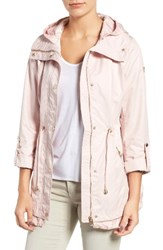 Guess Women's City Roll Sleeve Anorak Pastel Pink