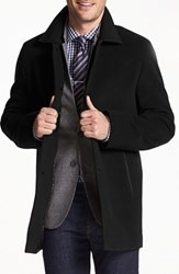 Men's Cole Haan Italian Wool Overcoat Black