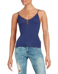 Free People Seamless Crossfire Cami Blue