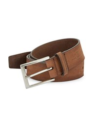John Varvatos Trimmed Leather Belt Brown