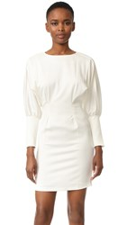 Intropia Long Sleeve Dress White