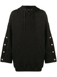Y Project Oversized Hoodie With Arm Button Fastening Men Cotton Spandex Elastane Xs Black