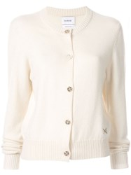 Barrie Round Neck Cardigan White