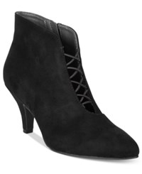 Rialto Maxine Pointed Toe Booties Women's Shoes Black