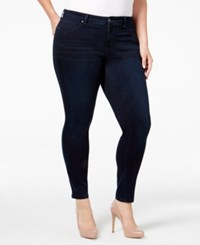 Jessica Simpson Trendy Plus Size Navy Blue Wash Skinny Jeans
