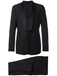 Salvatore Ferragamo Two Piece Applique Detail Suit Black