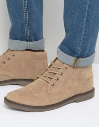 Pull And Bear Pullandbear Faux Suede Desert Boots In Beige Beige