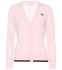 Coach Wool And Cashmere Cardigan Pink