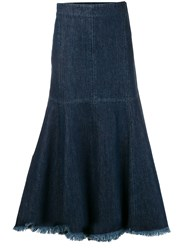 Simonetta Ravizza Vulcano Denim Skirt Blue
