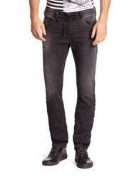 Diesel Faded Drawstring Jeans Black