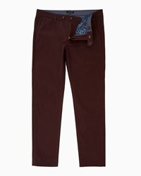 Ted Baker Pegsie Geo Print Trousers Dark Red