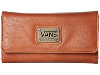 Vans Chained Reaction Wallet Cognac Black Tropical Wallet Handbags Brown