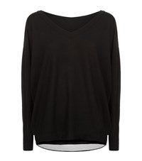 Malo V Neck Reversible Jumper Female Black
