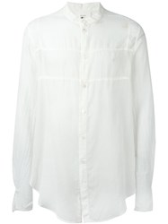 Lost And Found Rooms Panelled Shirt White