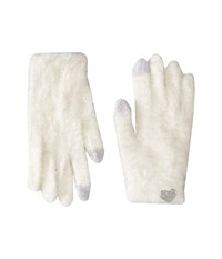 Betsey Johnson Do Me A Solid Soft I Touch Gloves Ivory Extreme Cold Weather Gloves White