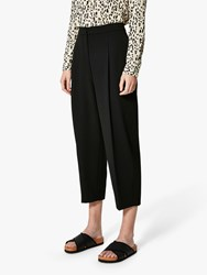 Selected Femme Hia Cropped Trousers Black