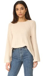 Elizabeth And James Baker Flare Sleeve Sweater Camel