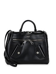 Moschino Classic Leather Satchel Black