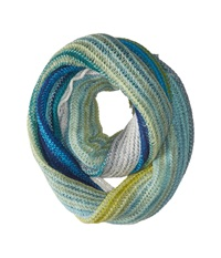 Echo Ombre Stripe Infinity Ring Ultra Marine Scarves Blue