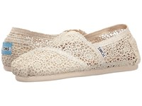 Toms Crochet Classics Natural Moroccan Crochet Women's Slip On Shoes White