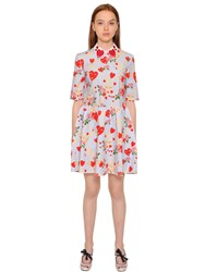 Vivetta Love Printed Cotton Poplin Dress