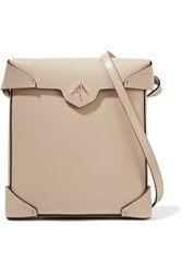 Manu Atelier Pristine Mini Leather Shoulder Bag Beige
