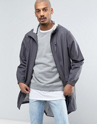Rains Parka Hooded Jacket Waterproof In Grey Smoke