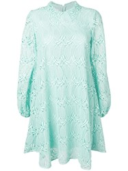 Giamba Flared Lace Dress Green