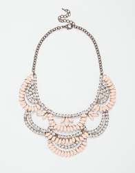 Love Rocks Crystal Layer Necklace Coral