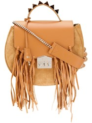 Salar Fringed Tote Women Leather Suede One Size Brown