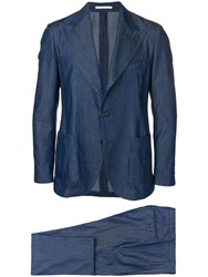 Gabriele Pasini Two Piece Denim Suit Blue